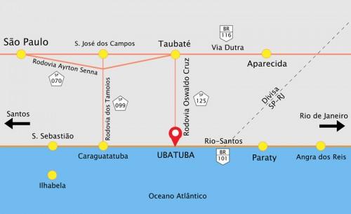 Como Chegar na Pousada Porto do Itaguá